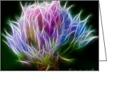 Blossom Digital Art Greeting Cards - Color Burst Greeting Card by Adam Romanowicz