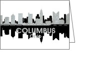 Capital Mixed Media Greeting Cards - Columbus OH 4 Greeting Card by Angelina Vick