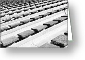 Gaspar Avila Greeting Cards - Concrete seats Greeting Card by Gaspar Avila