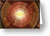 Web Digital Art Greeting Cards - Copper Shield Greeting Card by Anastasiya Malakhova