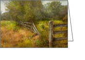 Farm Greeting Cards - Country - Landscape - Lazy meadows Greeting Card by Mike Savad