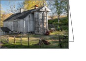 Connecticut Barns Greeting Cards - Country Time Greeting Card by Bill  Wakeley