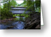 Bill Cannon Photo Greeting Cards - Covered Bridge at Valley Forge in Springtime Greeting Card by Bill Cannon