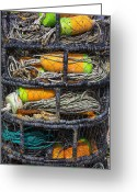 Crabs Greeting Cards - Crab cages Greeting Card by Garry Gay