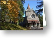 British Royalty Greeting Cards - Crathie Kirk Greeting Card by Phil Banks