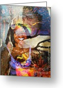 L.a. Woman Greeting Cards - Creolization - Descendants Surviving Tribalism Greeting Card by Fania Simon