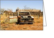 Horror Car Greeting Cards - Cuervo New Mexico Ghost Town 4 Greeting Card by Deborah Smolinske