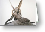 Psyche Photo Greeting Cards - Cupid and Psyche Greeting Card by Chureerat Bunngoen