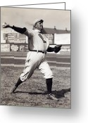 Infield Greeting Cards - Cy Young - American League - 1908 Greeting Card by Daniel Hagerman