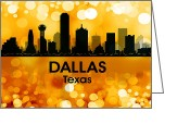 Capital Mixed Media Greeting Cards - Dallas TX 3 Greeting Card by Angelina Vick