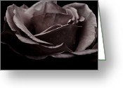 Grebo Gray Greeting Cards - Dark Flower 16 Greeting Card by Grebo Gray