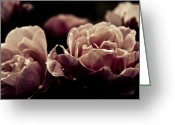 Grebo Gray Greeting Cards - Dark Flower 19 Greeting Card by Grebo Gray