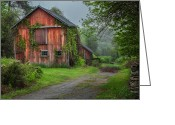 Connecticut Barns Greeting Cards - Days Gone By Greeting Card by Bill  Wakeley