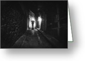 Film Noir Greeting Cards - Decoy Greeting Card by Taylan Soyturk