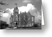 Honorarium Greeting Cards - DePauw University East College Greeting Card by University Icons