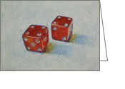 Dice Painting Greeting Cards - Dice Greeting Card by Michael Creese