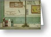 Tiles Greeting Cards - Diner Rules Greeting Card by Andrew Paranavitana