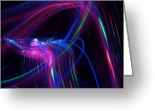Curve Ball Greeting Cards - Disco Greeting Card by Michele Stoehr