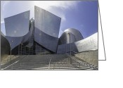 Stunner Greeting Cards - Disney Concert Hall Los Angeles Greeting Card by Angela A Stanton