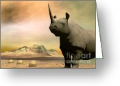 African Animals Greeting Cards - Do you really want to hurt me Greeting Card by Sipo Liimatainen
