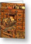 Cabinet Room Greeting Cards - Doctor - Victorian House Call Bag II Greeting Card by Lee Dos Santos