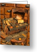 Cabinet Room Greeting Cards - Doctor - Victorian House Call Bag IV Greeting Card by Lee Dos Santos