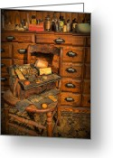 Cabinet Room Greeting Cards - Doctor - Victorian House Call Bag Greeting Card by Lee Dos Santos