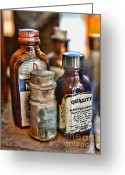 Pills Greeting Cards - Doctor The Mercurochrome Bottle Greeting Card by Paul Ward