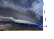 Hail Photo Greeting Cards - Dodge City Dust Up Greeting Card by Zach  Roberts