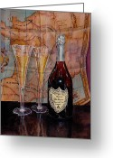 Dom Perignon Greeting Cards - Dom Greeting Card by Debra Keirce