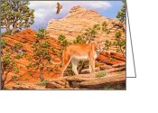 Cougar Greeting Cards - Dont Move Greeting Card by Crista Forest