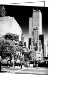 John Rizzuto Greeting Cards - Downtown Views 1990s Greeting Card by John Rizzuto