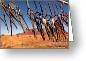 Monument Valley Photo Greeting Cards - Dreamcatchers Greeting Card by Jane Rix