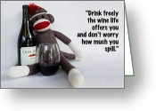 Most Photo Greeting Cards - Drink Freely Greeting Card by William Patrick