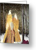 Catch Light Greeting Cards - Eagle Dress Greeting Card by Kim Prowse