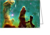 Nebula Greeting Cards - Eagle Nebula 2 Greeting Card by Ayse Toyran