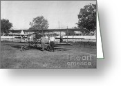 Gwyn Newcombe Greeting Cards - Early Aviation Pre Flight Greeting Card by Gwyn Newcombe