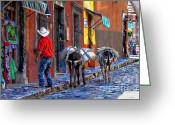 John Kolenberg Greeting Cards - Early Morning In Centro Greeting Card by John  Kolenberg