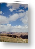 Weather Greeting Cards - Earth and Sky Page AZ  Greeting Card by Dave Gordon