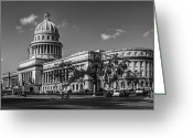 Historic Landmark Greeting Cards - El Capitolio Greeting Card by Erik Brede