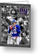 Touchdown Greeting Cards - Eli Manning Giants Greeting Card by Joe Hamilton