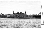 John Rizzuto Greeting Cards - Ellis Island 1990s Greeting Card by John Rizzuto