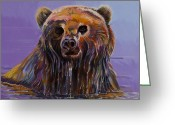 Imaginary Realism Greeting Cards - Embarrassed Greeting Card by Bob Coonts