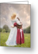 Hugging Greeting Cards - Embrace Greeting Card by Joana Kruse