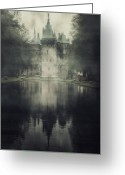 Enchanted Greeting Cards - Enchanted Castle Greeting Card by Joana Kruse