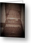 Odd Jeppesen Greeting Cards - Enigma Machine Greeting Card by Odd Jeppesen
