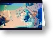 Slowhand Greeting Cards - Eric Clapton Greeting Card by Gwen Rose