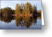 Larry Ricker Greeting Cards - Evening Reflections on Snipe Lake 1 Greeting Card by Larry Ricker