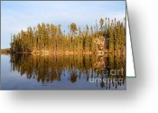 Larry Ricker Greeting Cards - Evening Reflections on Snipe Lake 21 Greeting Card by Larry Ricker