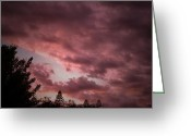 Mick Anderson Greeting Cards - Evening Sky Greeting Card by Mick Anderson